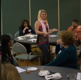 SPSU student reports back to full group. (Photo by Chavez Procope)