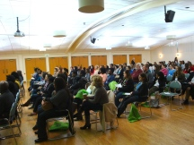 The audience for SOPOWO Day filled the Ballroom at SPSU.