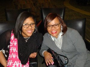 Jessica Peek and her mother Kathy attended SOPOWO Day.
