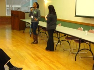 Student  Jalynn Young speaks about campus activities and housing.