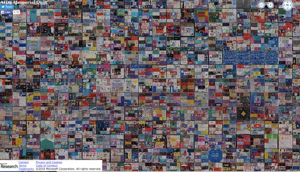 AIDS Memorial Quilt at Microsoft's Site
