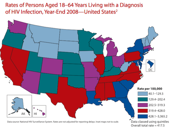 CDC Report: Regional Distribution of HIV/AIDS in the United States
