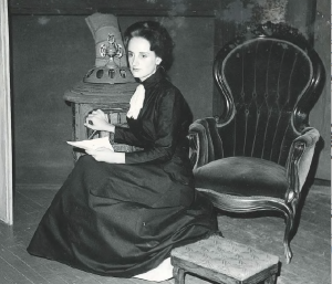 Charlotte Stephenson acting as Hedda Gabler at Judson College her freshman year.